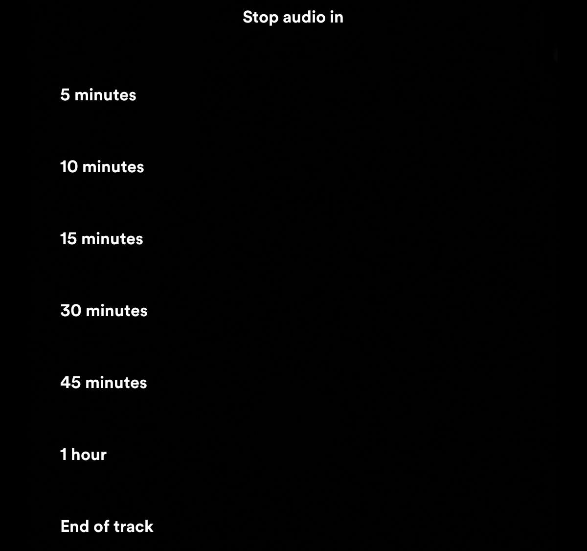 Sleep timer do Spotify