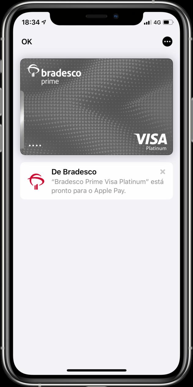 Cartão de débito do Bradesco no Apple Pay