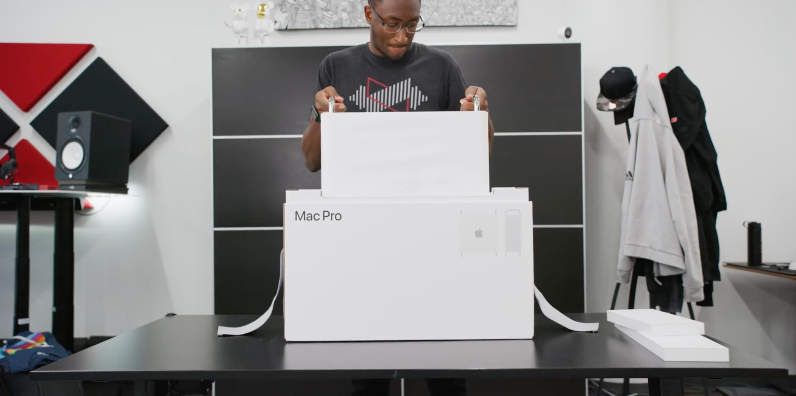Unboxing do novo Mac Pro