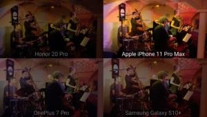 Comparativo de captura de áudio em clube de jazz parisiense