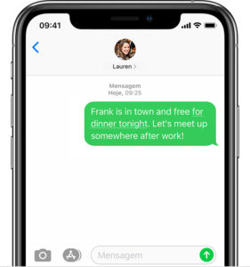 Link em SMS
