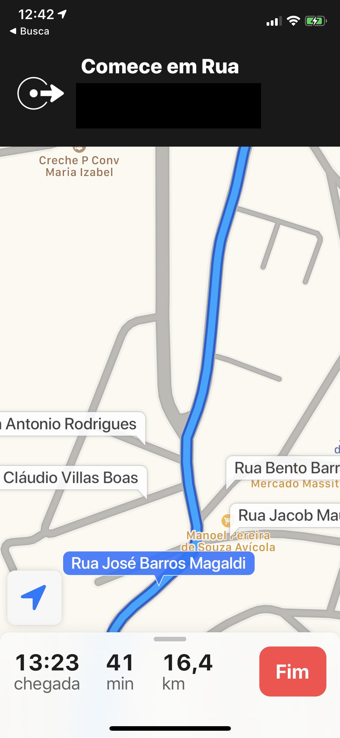 Navegação ponto a ponto no Apple Maps