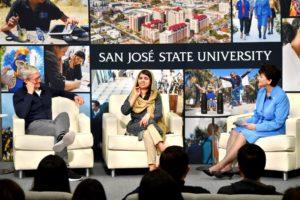 Tim Cook e Malala em Universidade dos EUA