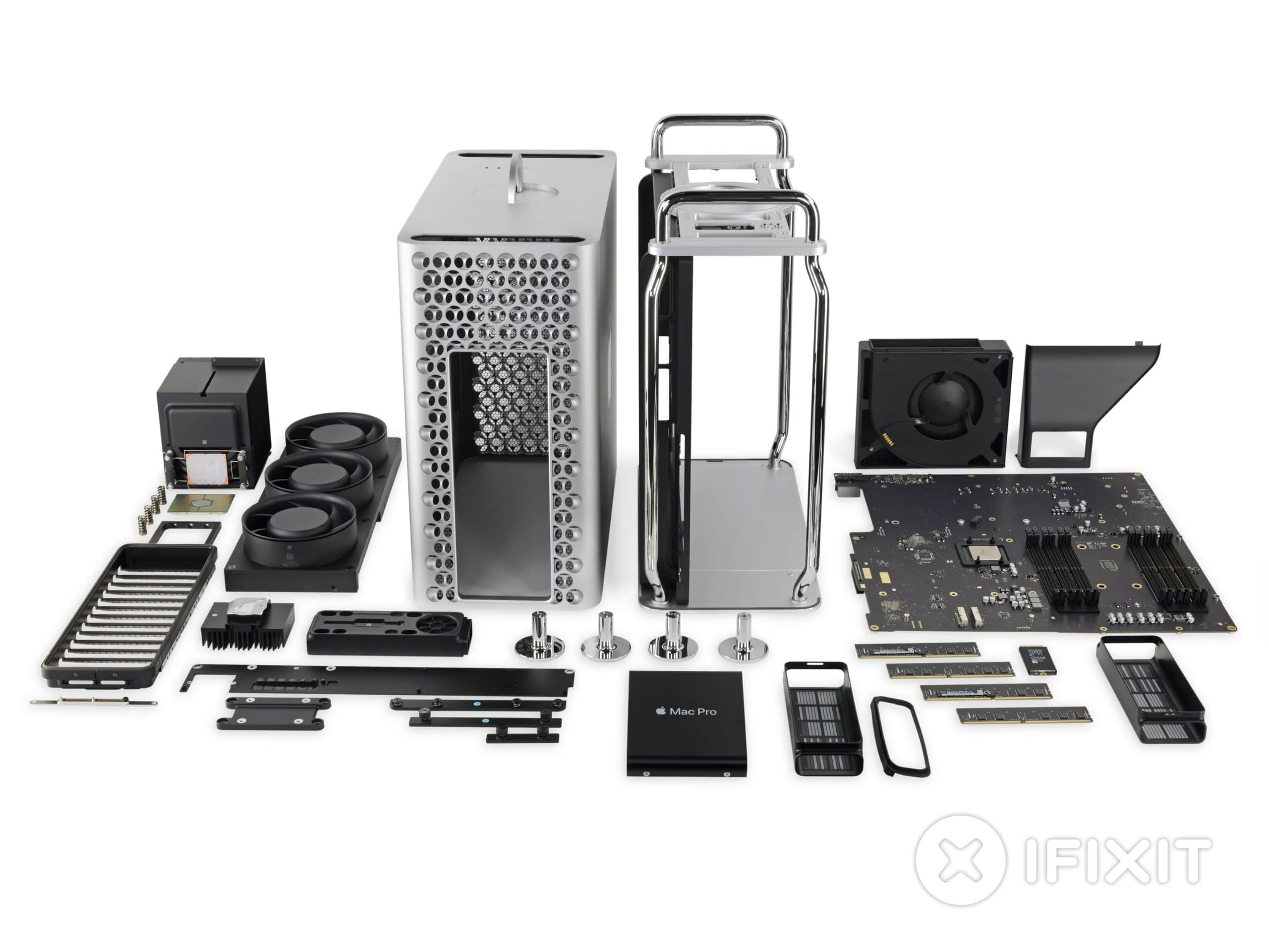 Desmonte da iFixit do novo Mac Pro