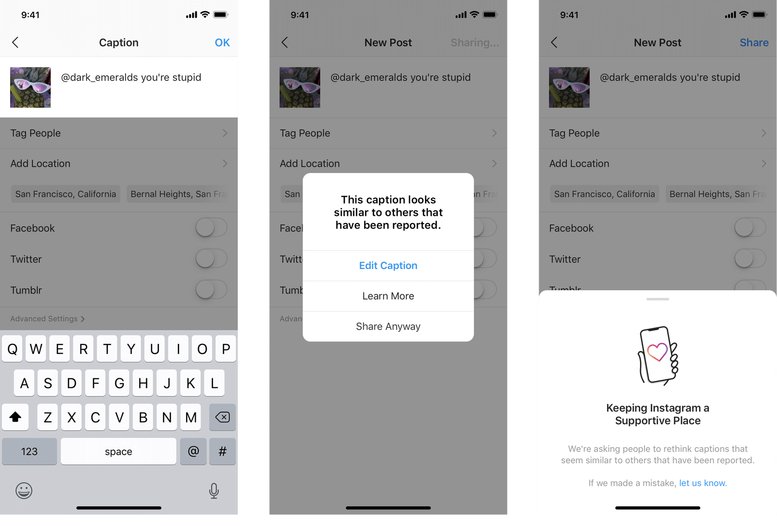 Novas ferramentas de combate ao bullying do Instagram