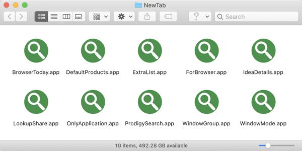 Tipos de extensões NewTab