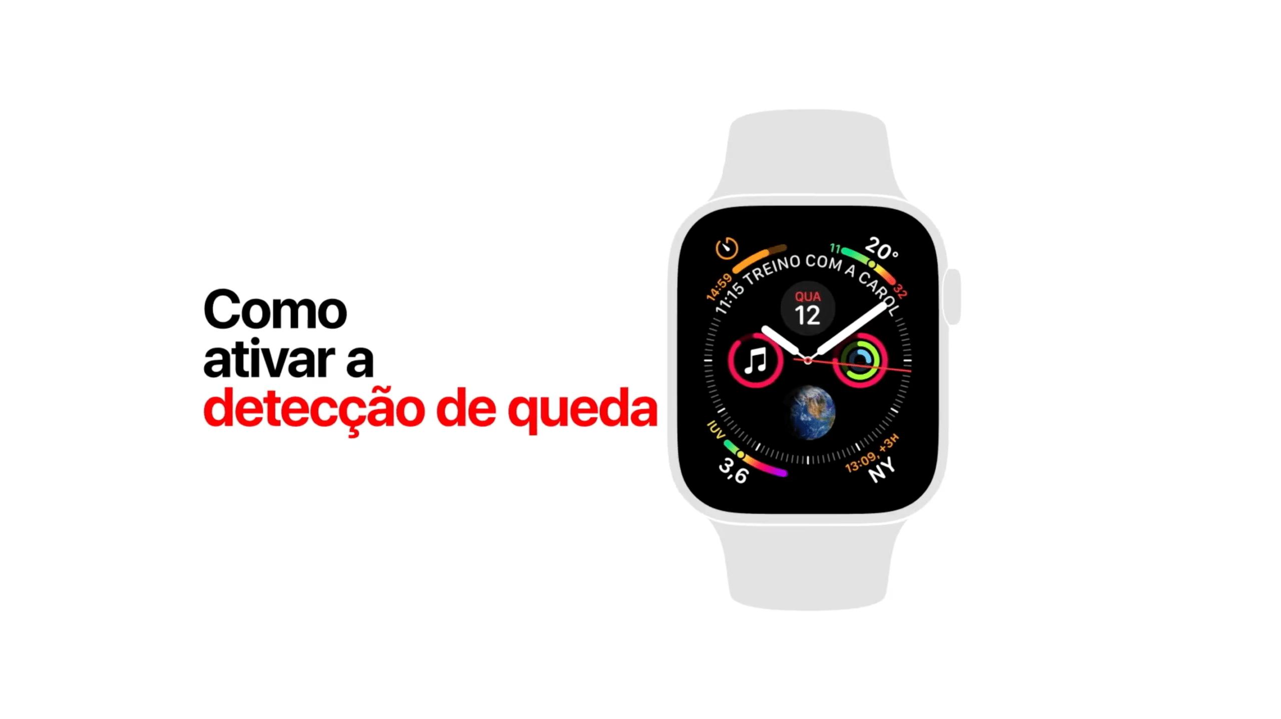 Vídeo de suporte da Apple: como ativar detecção de queda