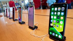 iPhones em lojas da Apple