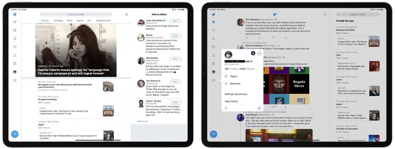Twitter para iPad