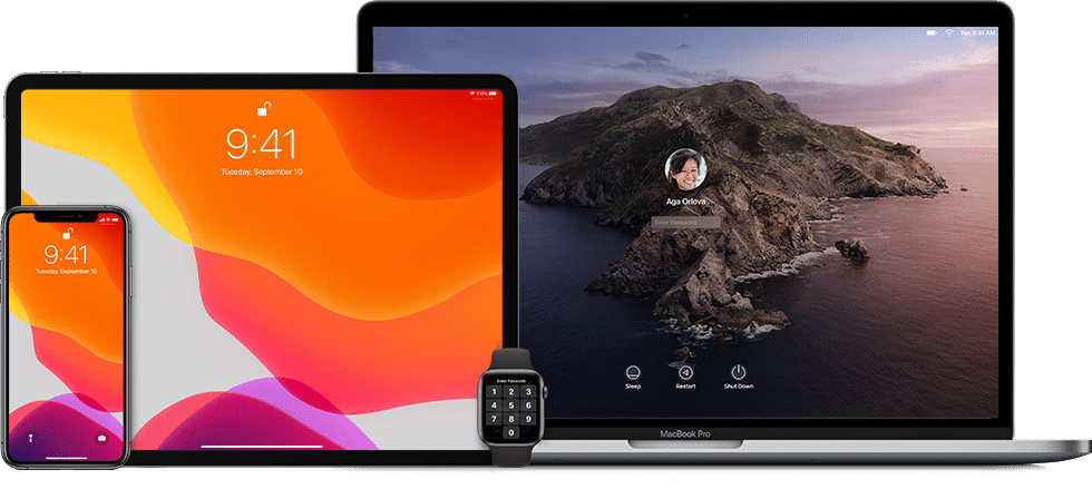 iPhone, iPad, Mac e Apple Watch