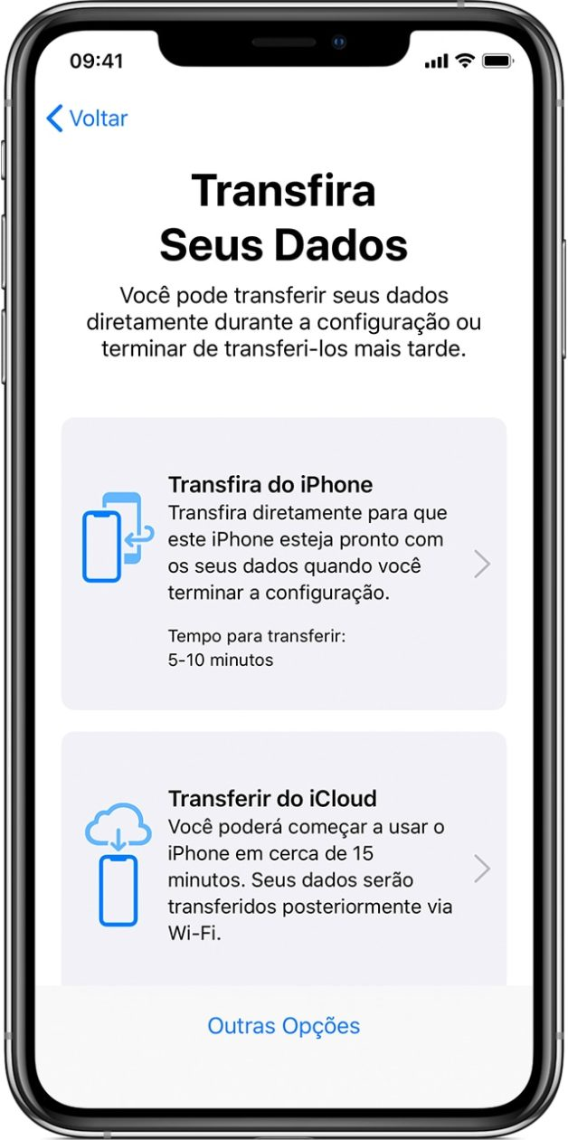 Transferir Dados no iPhone