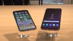 iPhone X e Galaxy S9