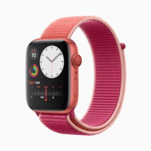 Mockup do Apple Watch Series 5 (PRODUCT)RED