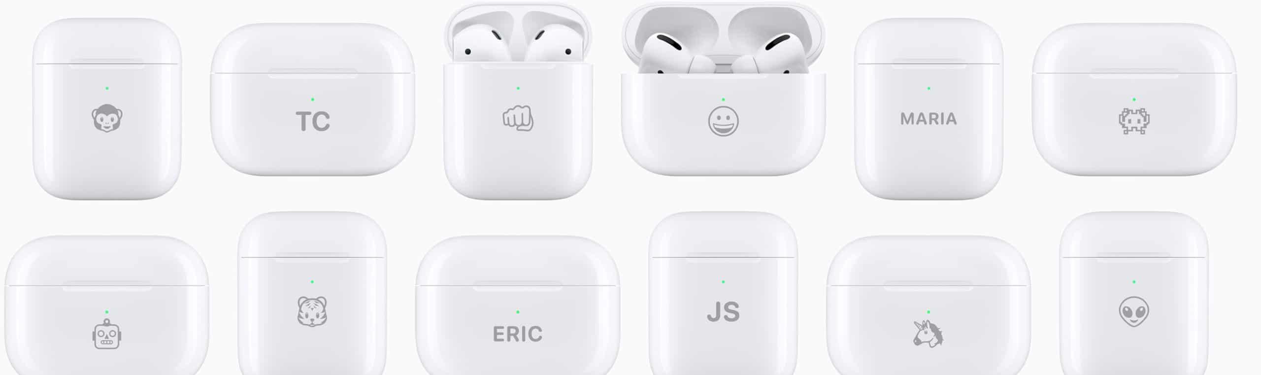 Estojos de AirPods personalizados com emojis