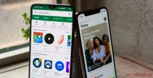 Google Play e App Store