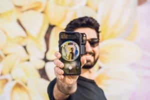 Selfie com a ShiftCam