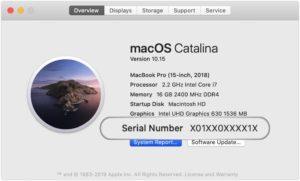Número de série no macOS