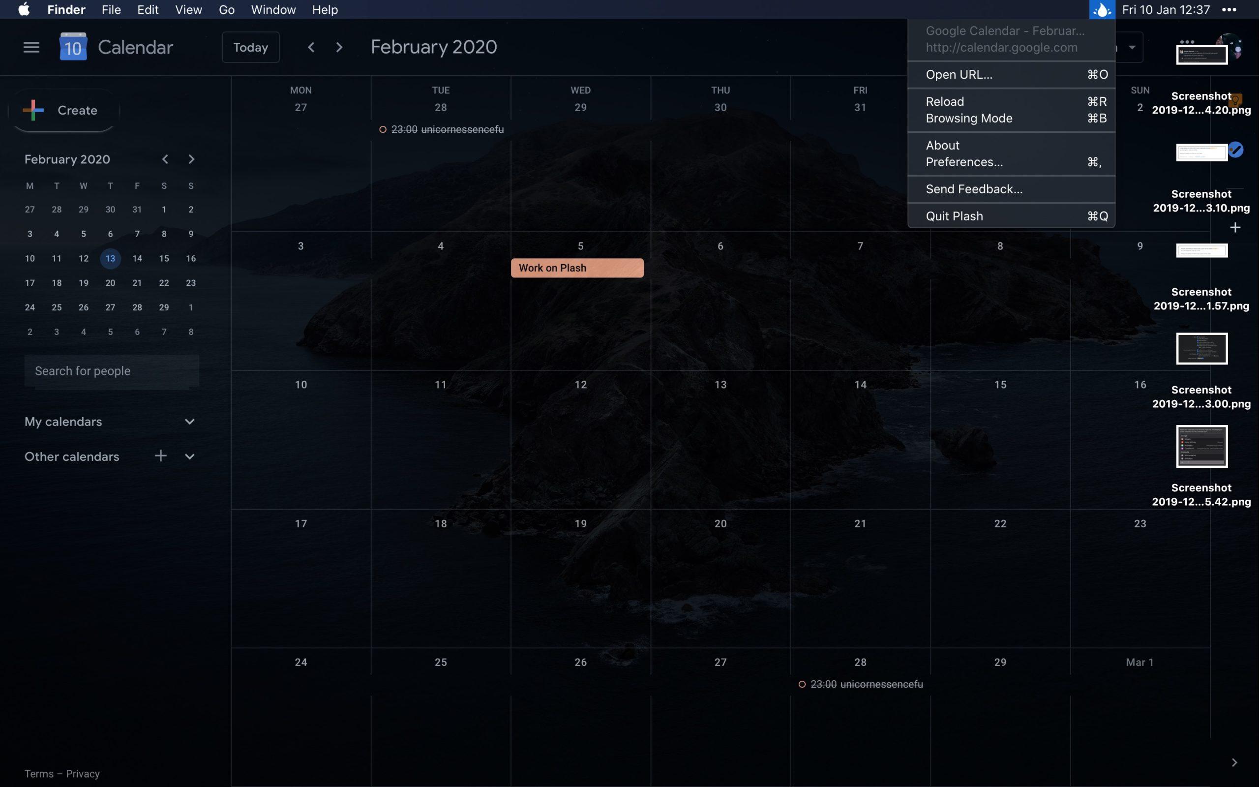 Plash, aplicativo do macOS para colocar site como wallpaper