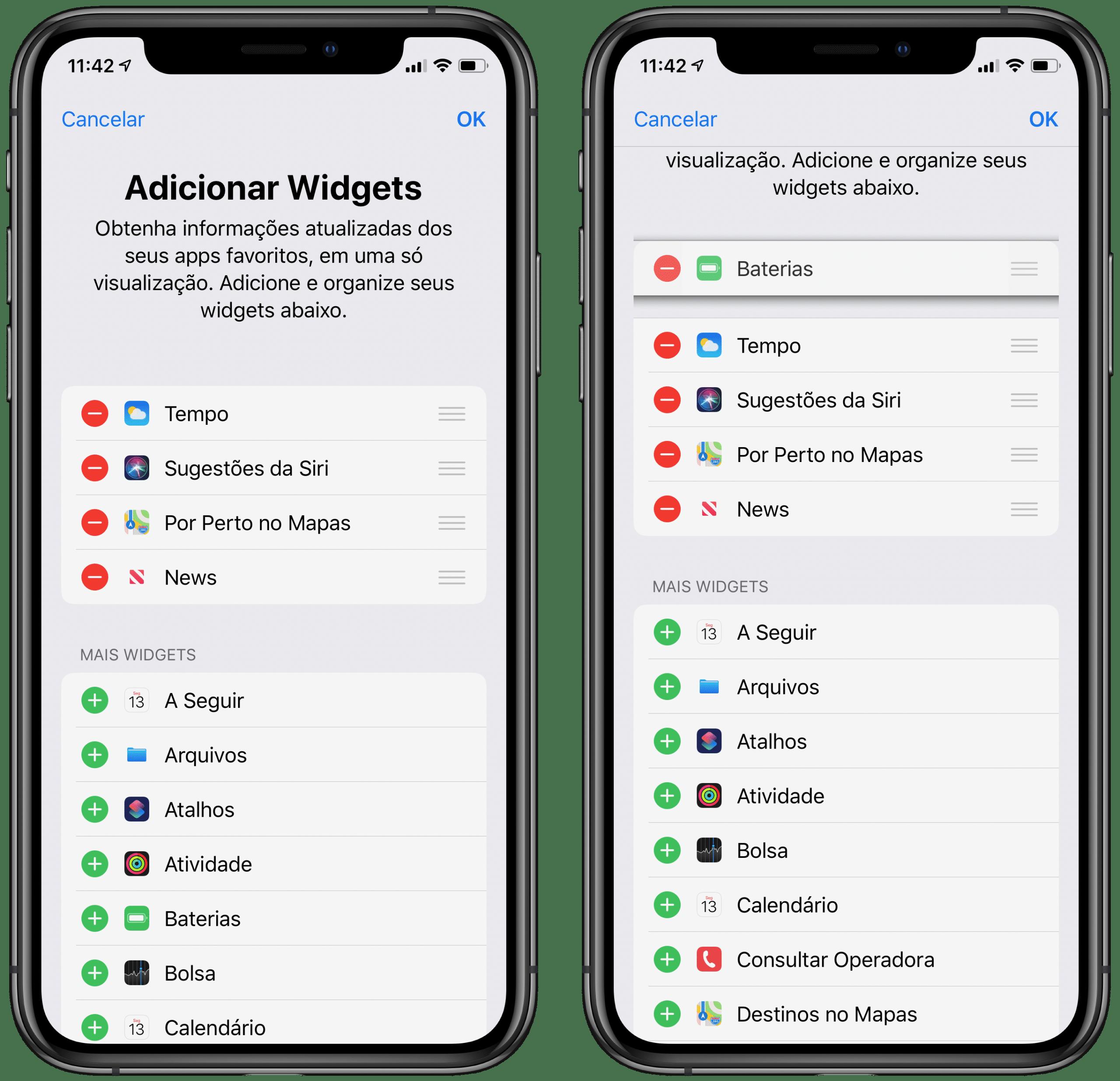 Personalizar widgets no iPhone