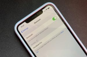 Configurações Bluetooth no iPhone