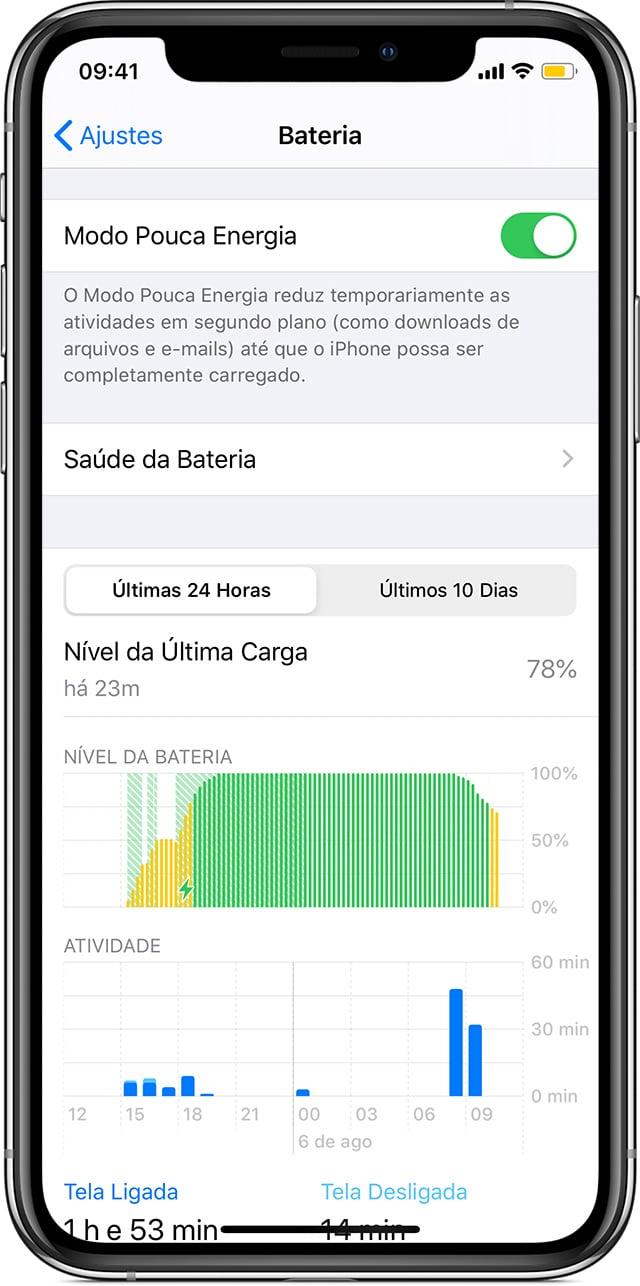 Modo Pouca Energia no iPhone