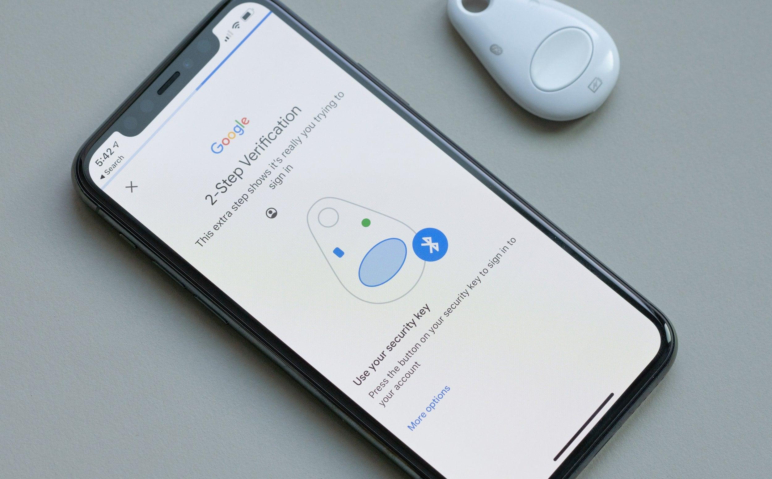 Autenticação de dois fatores do Google no iPhone