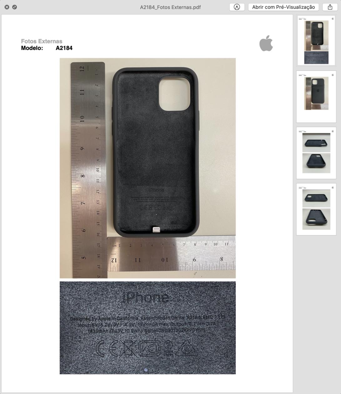 Anatel - Smart Battery Case para iPhones 11 e 11 Pro [Max]