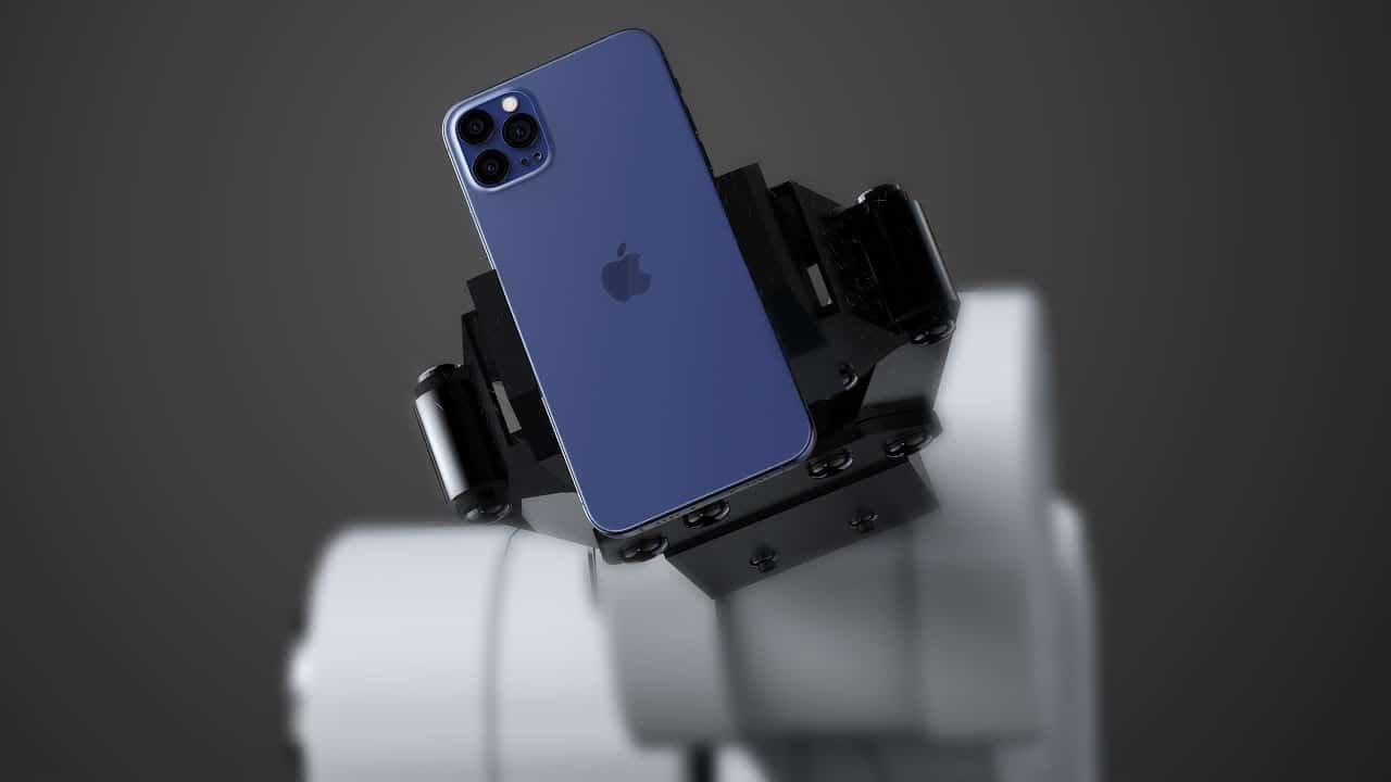 "Possível ""iPhone 12 Pro"" na cor azul-marinho"