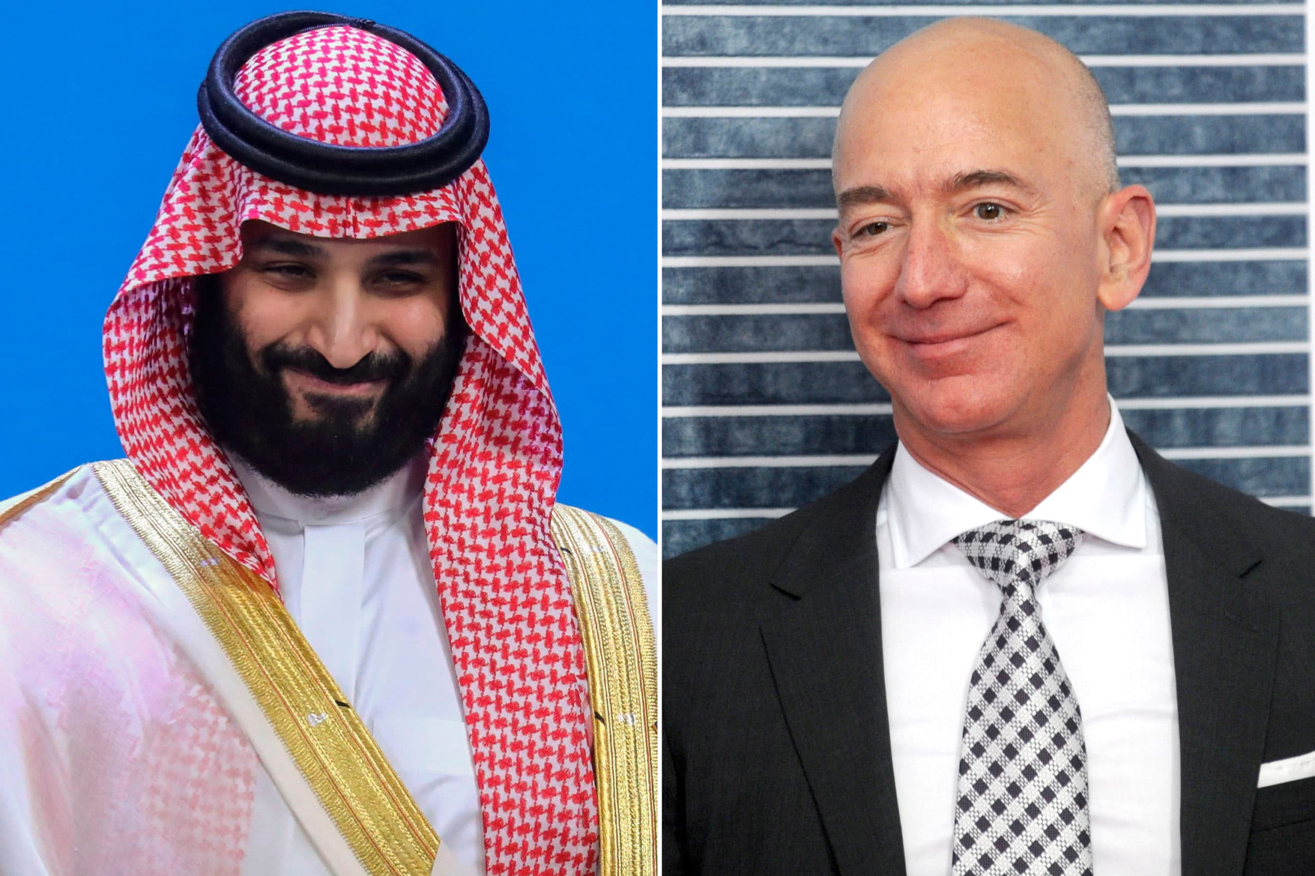 Jeff Bezos e Mohammed bin Salman
