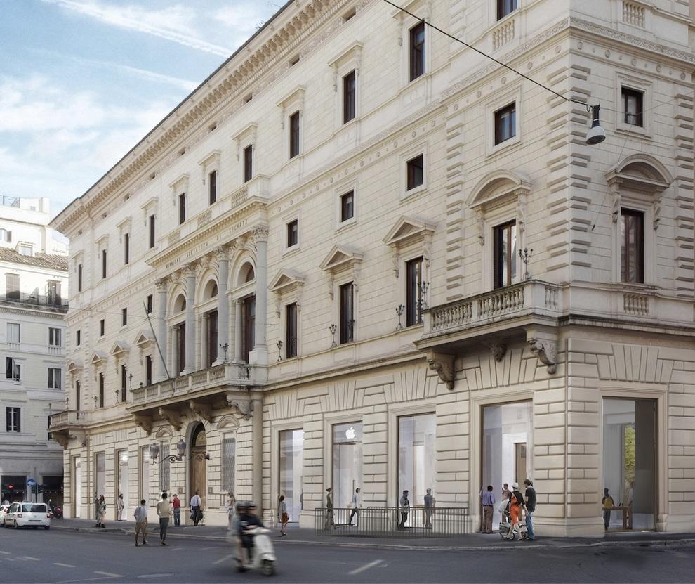Render da Apple Via del Corso, em Roma
