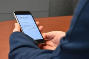 Dados de saúde em iPhone