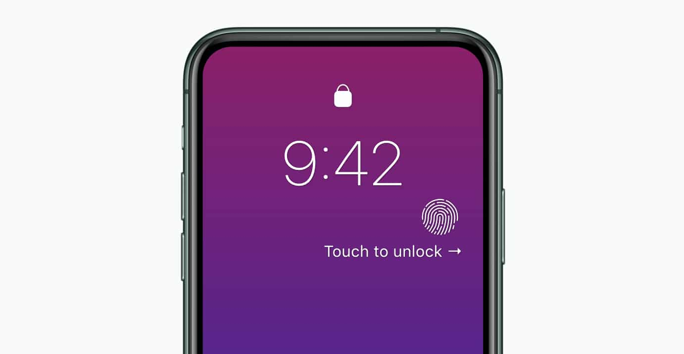 iPhone com Touch ID no botão lateral