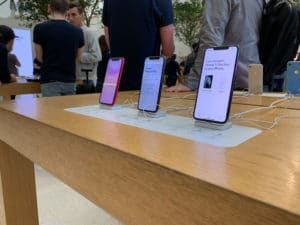 iPhones na Apple Store