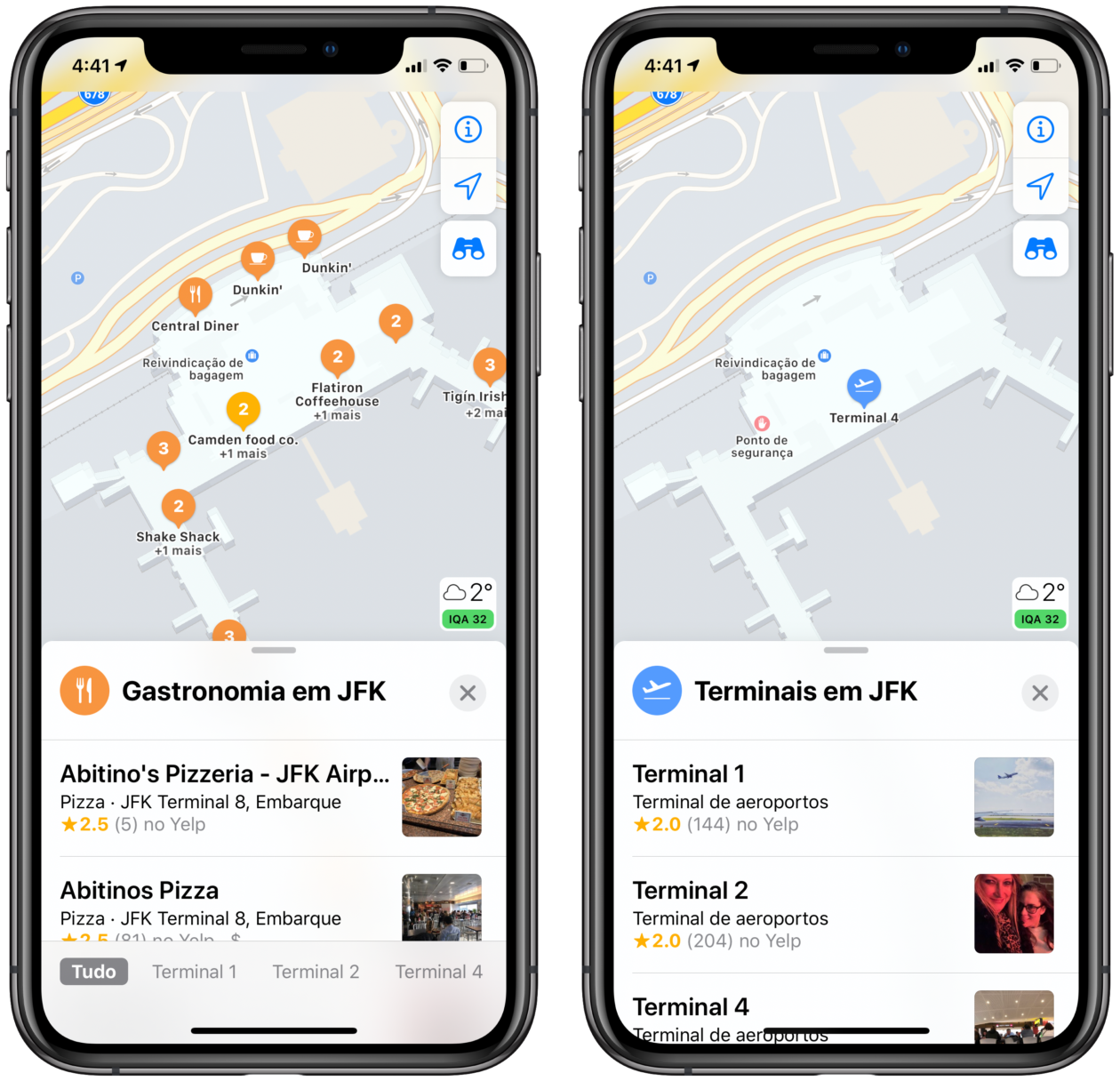 Mapas internos no Apple Maps