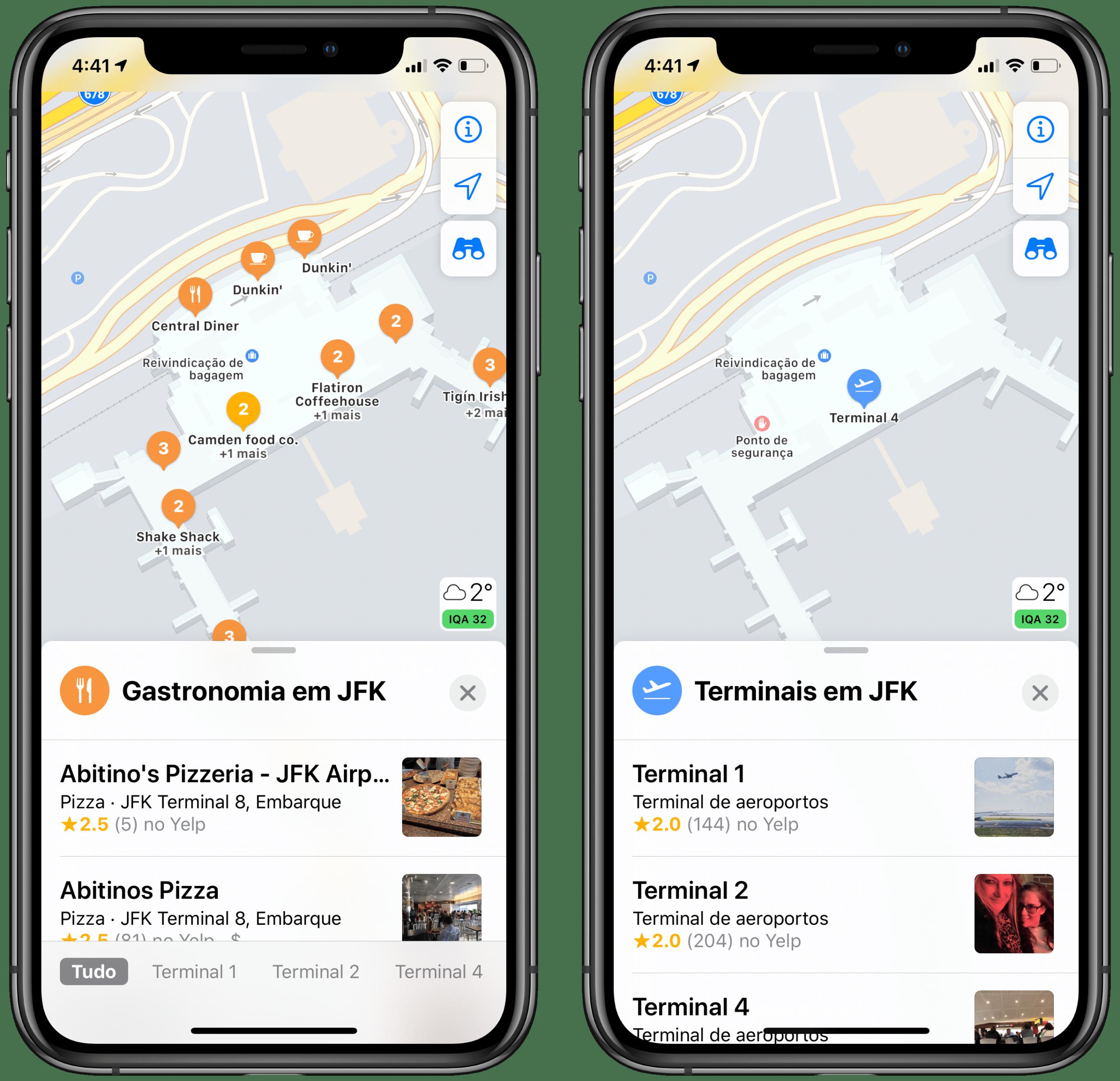 Mapas internos no Apple Maps