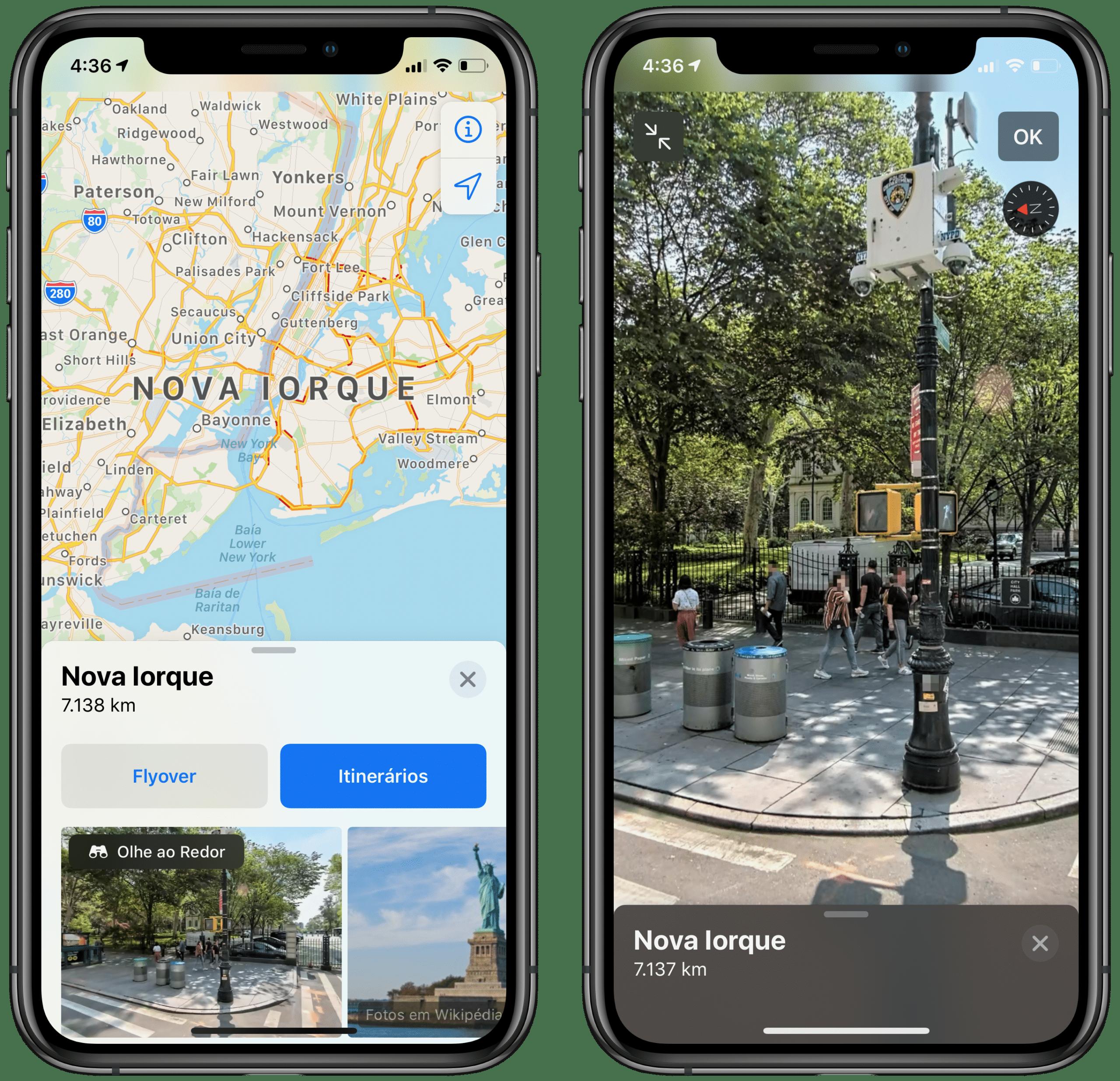 Olhe ao Redor no Apple Maps