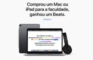 Promoção de volta às aulas da Apple Brasil