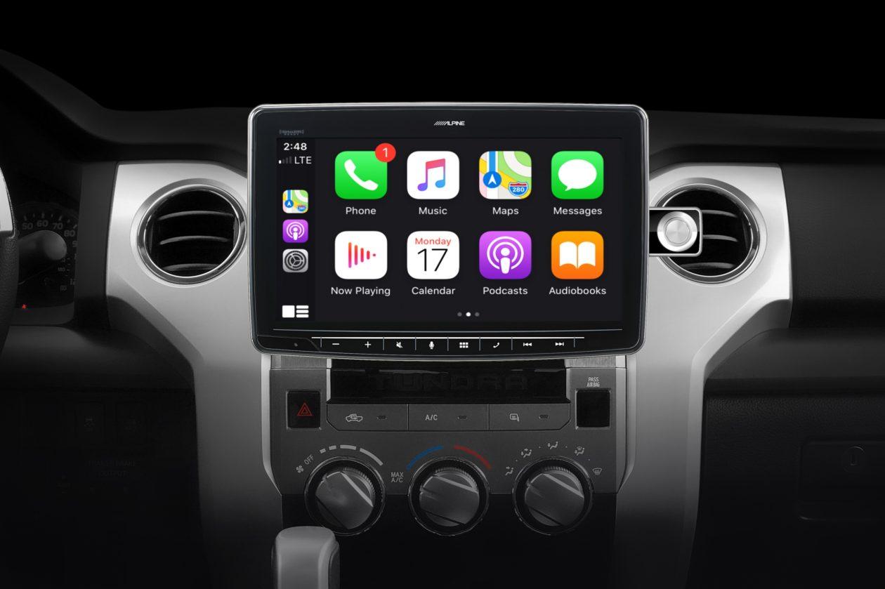 Receiver automotivo da Alpine com suporte ao CarPlay
