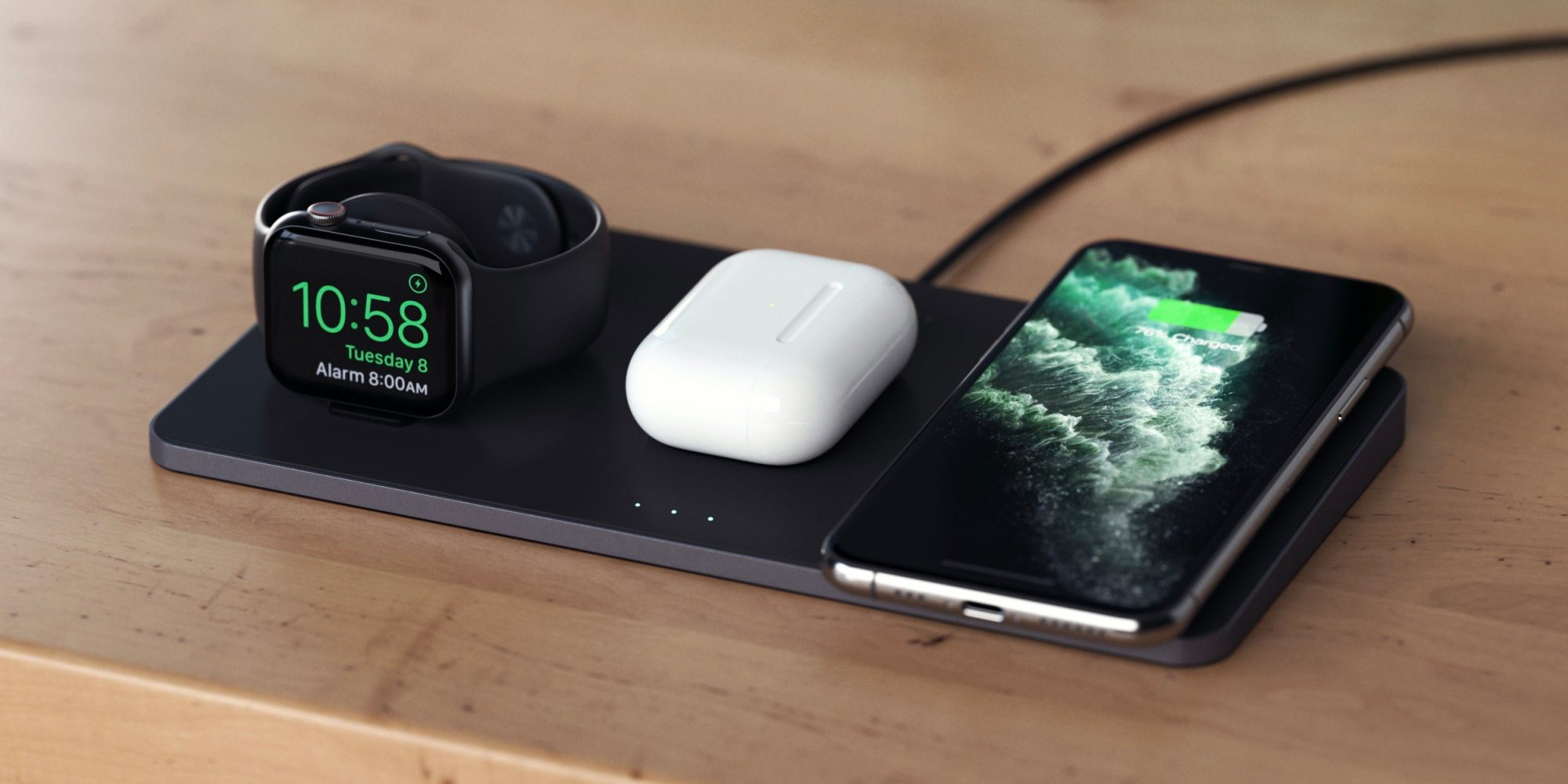 Carregador sem fio Satechi Trio Wireless Charging Pad