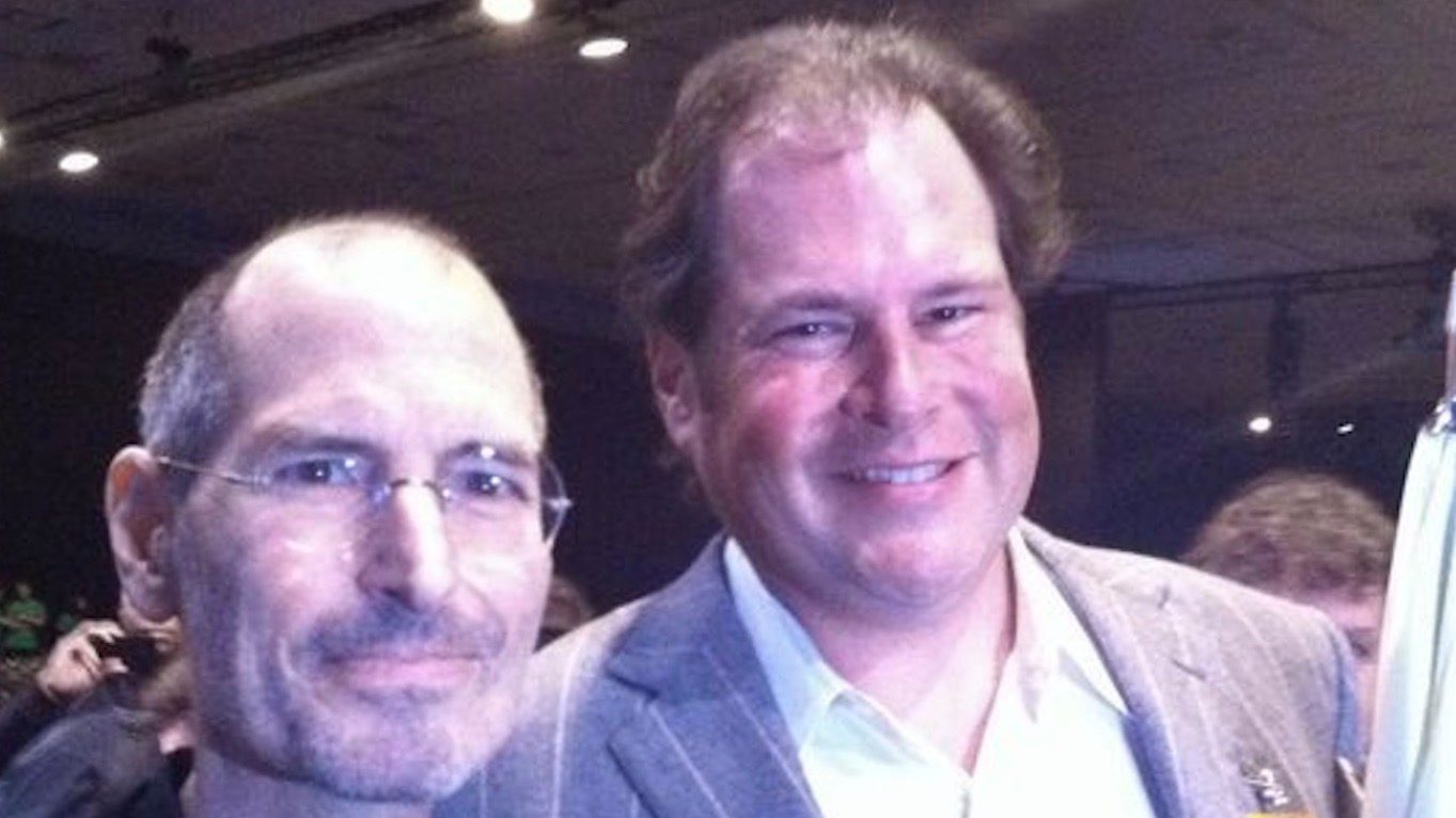 Steve Jobs e Marc Benioff