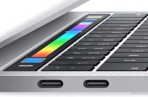 Portas Thunderbolt 3 do MacBook Pro