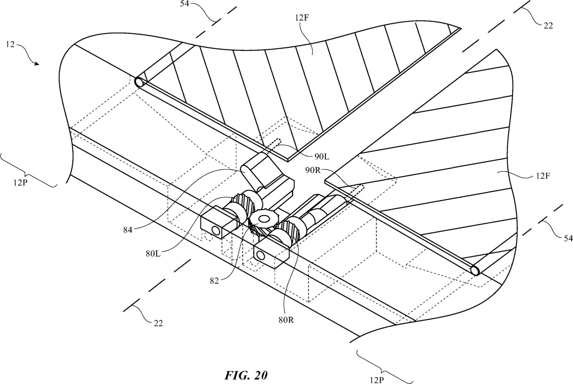 Patente da Apple cobrindo tela dobrável