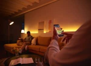 Lâmpadas Philips Hue controladas pelo iPhone