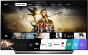 App Apple TV em TV da LG
