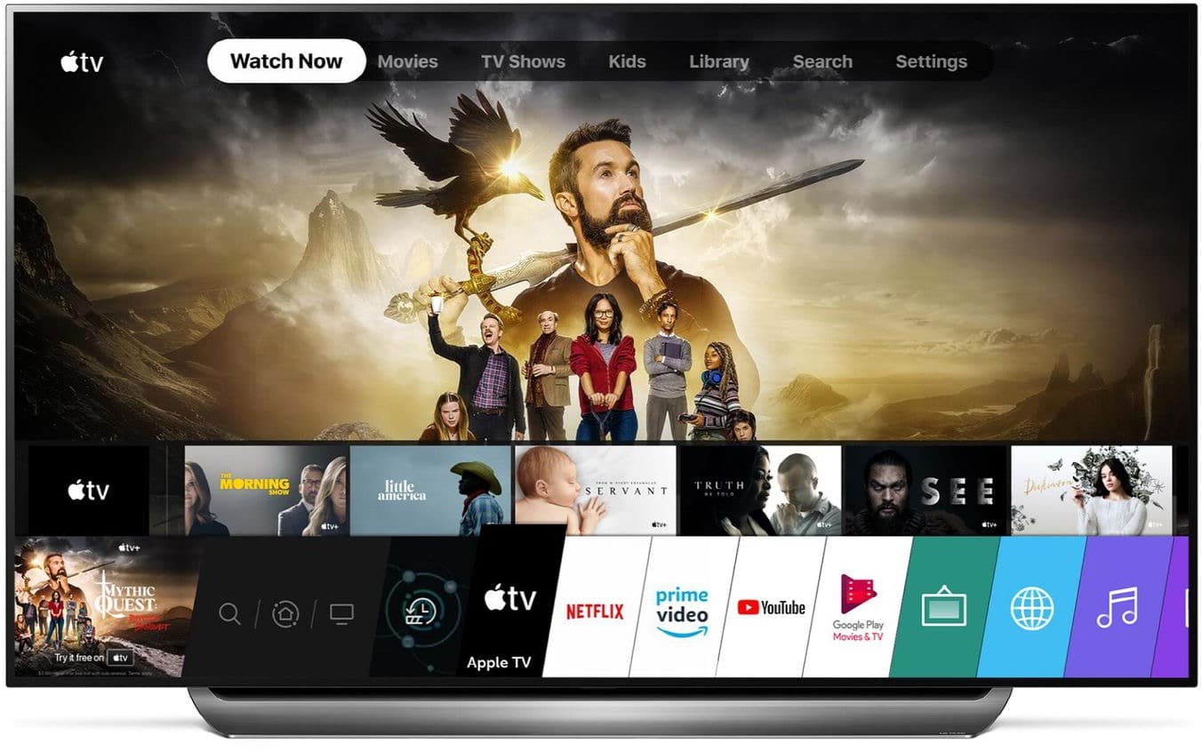 App Apple TV em TV da LG
