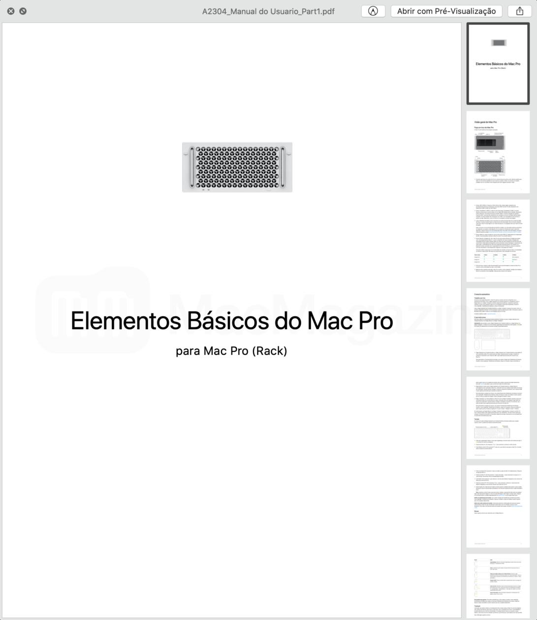 Documentos da Anatel referente a homologação da versão rack do Mac Pro