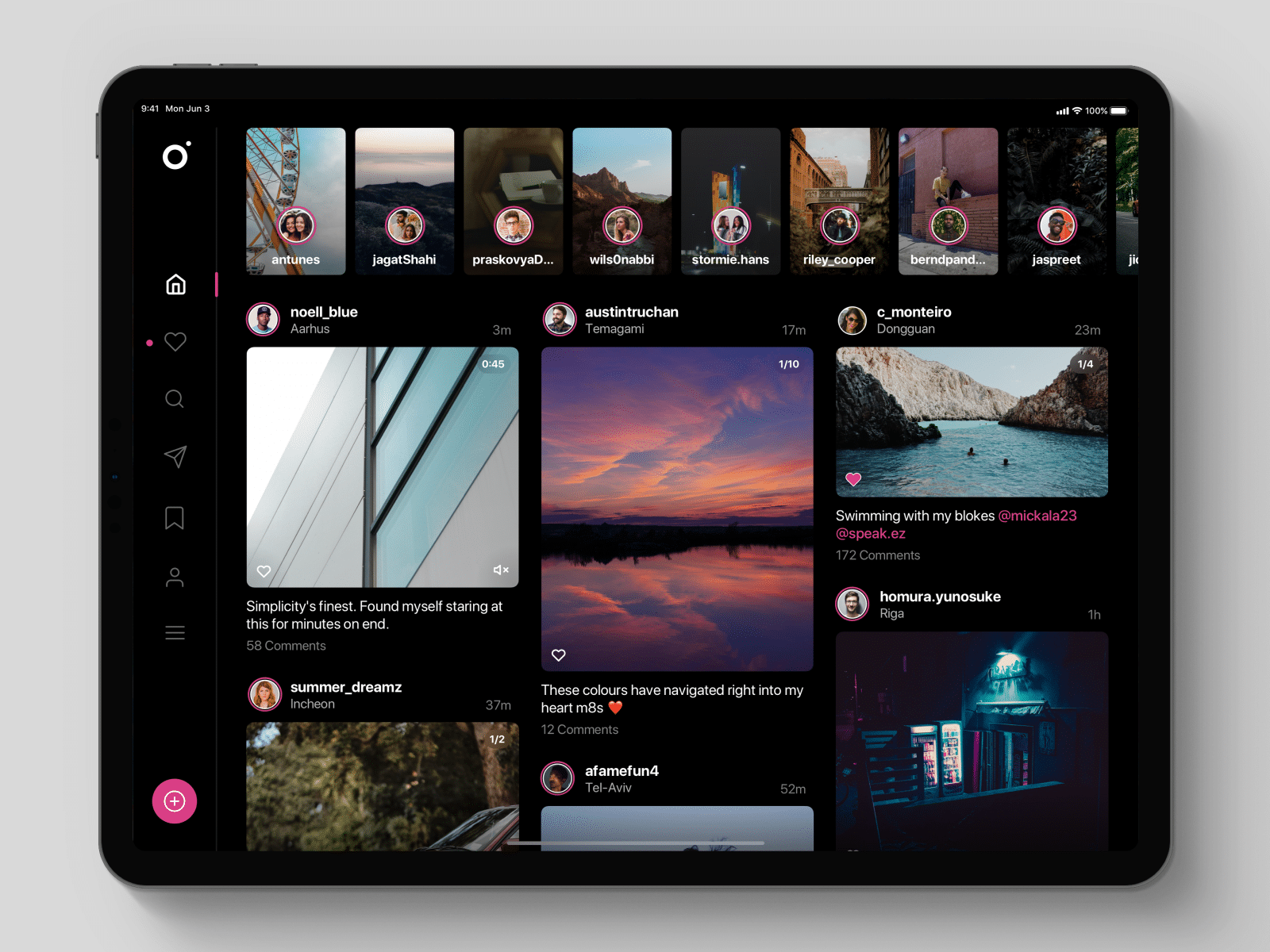 Conceito do Instagram para iPad