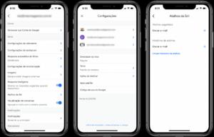 Atalhos da Siri no Gmail