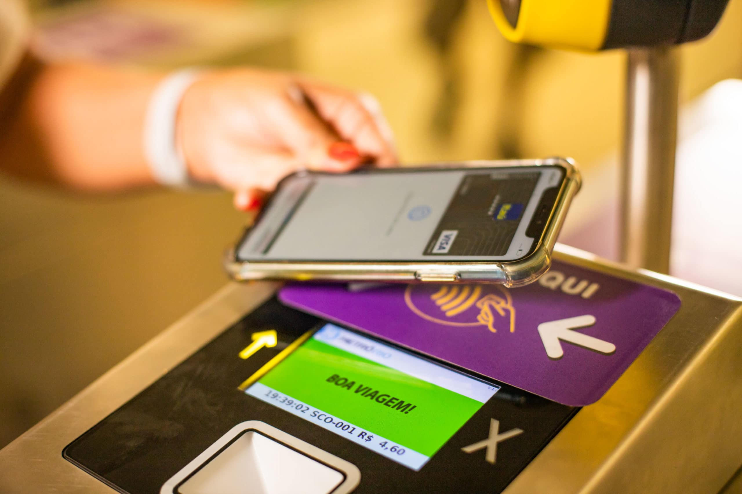Pagamento por Apple Pay no MetrôRio