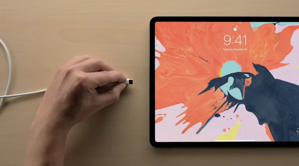 Porta USB-C do iPad Pro